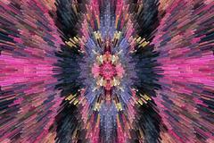 Very bright and motley abstraction Stock Illustration
