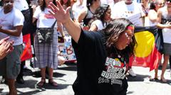 Stock Photo of Aboriginal G20 protest in Brisbane