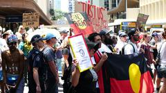 Aboriginal G20 protest in Brisbane 60 Stock Photos