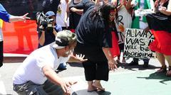 Aboriginal G20 protest in Brisbane 53 - stock photo