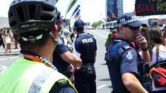 Aboriginal G20 protest in Brisbane 59 - stock photo