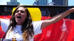 Stock Photo of Aboriginal G20 protest in Brisbane 29