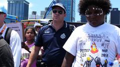 Aboriginal G20 protest in Brisbane  Stock Photos