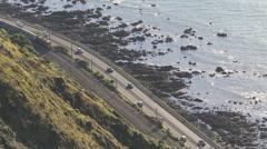 Transport on main highway near Paekakariki Stock Footage