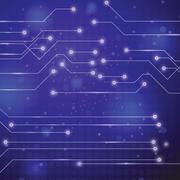 technology circuit board background - stock illustration