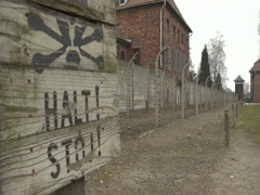 "Auschwitz ""Halt Stoj"" - stock footage"