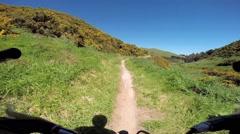 Mountain biking point of view (POV) Stock Footage