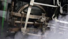 Historical transportation background. steam engine locomotive train Stock Footage