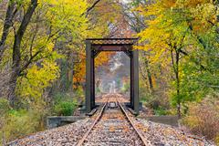 October Rails - stock photo