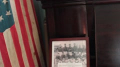 Early 20th Cent. American Flags School House Blackboard Stock Footage