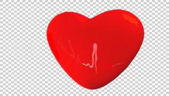 Heartbeat animated with ECG trace reflection 90bpm web Stock Footage