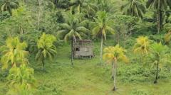 Nipa Hut in the Asian tropics Stock Footage