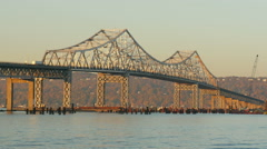 New Tappan Zee Bridge Construction 7 Stock Footage