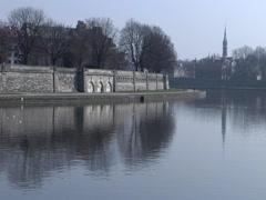 Krakow, Poland - Wisla River - stock footage