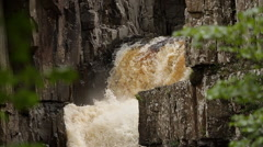 Super Slow Motion Waterfall Close Up Stock Footage