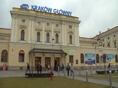 Krakow, Poland - Main train station. - stock footage