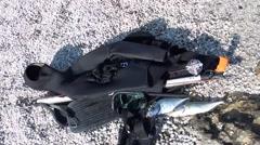 Spearfishing gears ashore Stock Footage