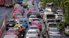 Rush Hour Traffic in Bangkok, Thailand Stock Footage