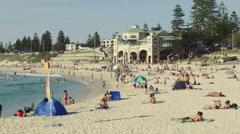 Summer at Cottesloe Beach in Perth, Western Australia Stock Footage