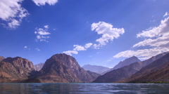 Lake in the mountains. Blurred. Iskander Kul. Time Lapse Stock Footage