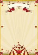 Fantastic brown circus vintage Stock Illustration
