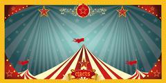 fun circus banner - stock illustration