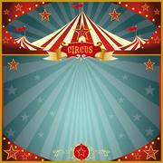 night fun circus square - stock illustration