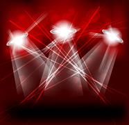 bright lights - stock illustration