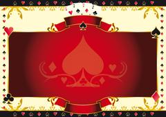 poker game ace of spades horizontal background - stock illustration