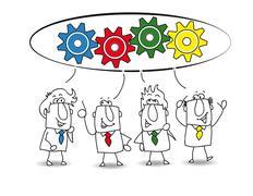 cooperation - stock illustration