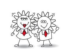 Good relationships Stock Illustration