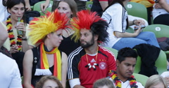 Ultra HD 4K Cute German Supporters Portrait Young Adult Painted Faces Having Fun Stock Footage