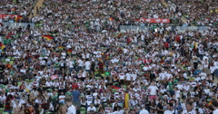 Ultra HD 4K Many People German Crowd Prepare Wait Munich Stadium Public Viewing Stock Footage