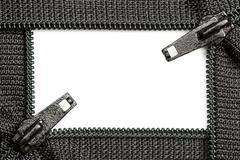 Zipper Border - stock photo