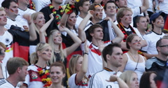 UltraHD 4K People Crowd Happiness Germany People Cheering Audience Football Fan Stock Footage