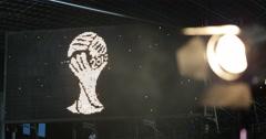 UHD 4K Scoreboard Germany Winner World Cup Brazil Champion Football Soccer Light Stock Footage