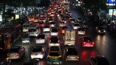 Timelapse View of Rush Hour Traffic in Bangkok, Thailand Stock Footage