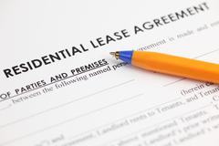Lease agreement Stock Photos