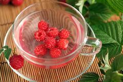 Raspberry tea Stock Photos