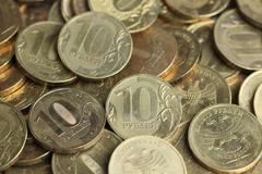ten rubles - stock photo