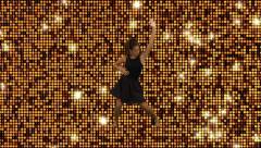 Modern dancer   Golden Reflective motion background Stock Footage