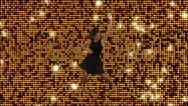 Stock Video Footage of Modern dancer   Golden Reflective motion background
