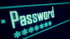 Password Security Login form on digital sreen 3 Stock Footage