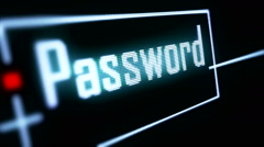 Password Security Login form on digital sreen 7 Stock Footage
