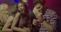 Friends dancing and enjoying Stock Footage