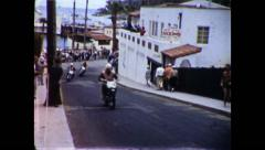 Early 1950s Catalina Grand Prix Motorcycle Race Avalon California Stock Footage