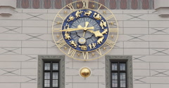 Ultra HD 4K Gothic Clock Tower Details Peter Church Munich Germany Architecture Stock Footage