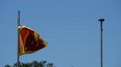 Sri Lankan flag at Independence Square, Colombo, Sri Lanka Stock Footage
