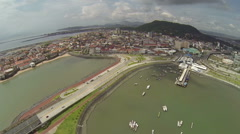 Cinta Costera, spectacular views of all of Panama City Stock Footage