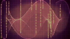 digital technology motion graphic background - stock footage